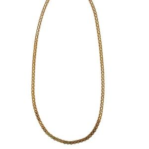 "Jewelry - Vintage Gold Herringbone/Curb Chain (20"")"